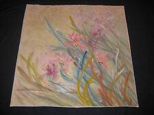RARE ORIGINAL CHINESE PAINTING SIGNED BOTANICAL ORIENTAL ASIAN ART 27 x 27 inch