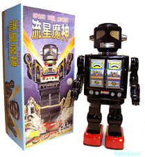 Metal House Robot Tin Toy Japan Space Evil Robot Black Limited Edition