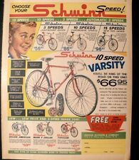 1963 Schwinn Speed Bicycles~Sierra~Typhoon~Mark V Jaguar~American~Varsity Ad