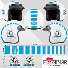 Kit Napoli STICKER CASCO ADESIVO DECAL MOTO SCOOTER STRISCE HELMET PVC TUNING