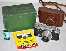 "20% OFF! RUSSIAN USSR ""FED 2"" camera+Industar-26m lens, FULL SET+ FILM (ITEM №3)"
