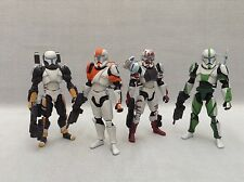 "Custom 1/18 Microman Clone Republic Commando Delta Squad Star wars 4"" Set"