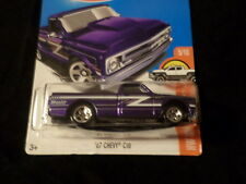 HW HOT WHEELS 2017 HW HOT TRUCKS #5/10 '67 CHEVY C10 HOTWHEELS PURPLE VHTF