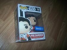 STAR WARS FUNKO POP! #72 POE DAMERON X-WING SUIT NEW IN BOX VHTF EXCLUSIVE