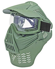 Full Face Paintball Mask Airsoft Tactical Lens Gear Neck Guard