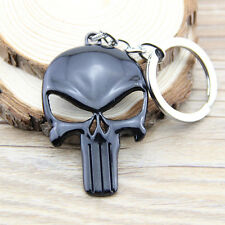 1pc The Punisher Keychain Metal Black Super Heroes Key Chain Gift Toys Pendant