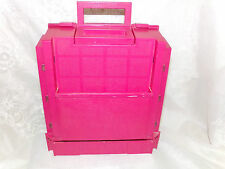 Vintage 1983 World Wide Media RED Sewing Caddy Box Organizer Fold Up Plastic