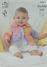 KNITTING PATTERN Baby's/Childrens Long Sleeve Jacket with Collar DK KC 4120