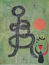 JOAN MIRO, WOMAN AND BIRD IN FRONT OF THE SUN , 1962, OFFSET LITHOGRAPH UNSIGNED