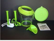 Tupperware Power Chef Powerchef Mix Whip Chop Prep Set Gift Green New