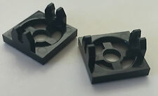 *NEW* 2 Pieces Lego BLACK MAGNET HOLDER TILE 2x2