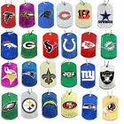glitter dog tag necklace NFL PICK YOUR TEAM