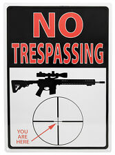 """No Tresspassing YOU ARE HERE"" Hunting Humor AR-15 Rifle Sign Outdoor/Indoor"
