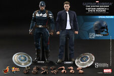 Hot Toys Captain America & Steve Rogers 1/6 Scale Figure Set Winter Soldier New