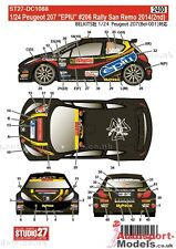 "1/24 2014 peugeot 207 #206 ""agence"" san remo rally decal set par studio 27 ~ DC1088"