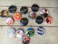 Firefly Serenity Set of 16 Pins Buttons Badger Whedon Fillion Captain