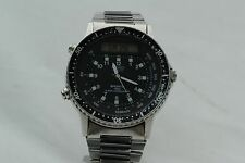 Seiko Quartz H556-5029 Sports 100 Alarm Chronograph Pre-Arnie New Battery