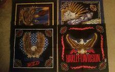 NEW set of 4 Vintage  Harley Davidson Licensed Bandanas head wraps