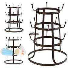 Coffee Mug Tree Metal Holder Cups Organizer ,Kitchen Drying Rack Stand. NEW