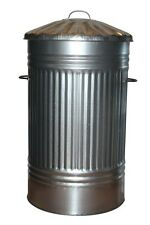 Extra Large Outdoor 125L Litre Galvanised Metal Bin Rubbish Dustbin Rodent Proof