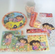 Dora The Explorer Birthday Party Supply Pack Kit for 8 New Plates Napkins Bags