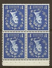 SB27a 1d Wilding Edward Crown booklet pane perf type AP UNMOUNTED MNT/MNH
