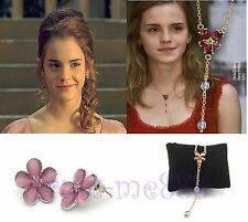Harry Potter Hermione Charming Necklace + Earrings Valentine's Day Gift in Box