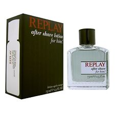 REPLAY 75ml 2.5oz Aftershave lotion For Him in original sealed packaging