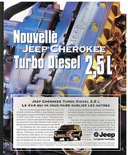 Publicité Advertising 1995 Nouvelle Jeep Cherokee Turbo Diesel