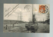 1909 Vejle Denmark to French Colonial Soldier Pekin China Postcard Cover
