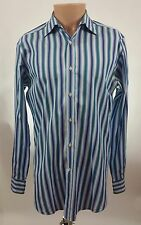 Etro Made In Italy Button Front Shirt Multi Color Striped Size 16 (40)