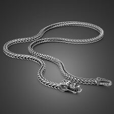 """Genuine Solid Sterling Silver Thai Silver Dragon Chain Men's Necklace 22"""" N352"""