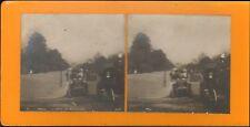 PHOTO STEREOSCOPIQUE PARIS BOIS DE BOULOGNE VERS 1900