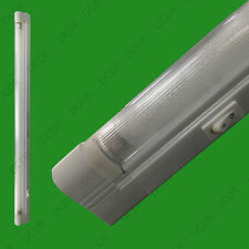 """Under Cupboard 13W T5 G5 21"""" 525mm Fluorescent Tube Striplight Bulb with Holder"""