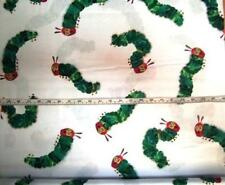 THE VERY HUNGRY CATERPILLAR LARGE WHITE LICENSED ANDOVER COTTON QUILT FABRIC