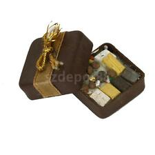 Doll House Miniature Food Square Box Filled with Chocolates sweets Christmas