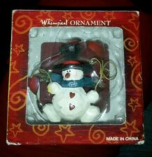NEW IN BOX Whimsical Christmas Snowman Holiday Hearts Costco