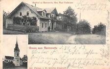 Gruss aus Bannewitz Gasthaus, Kirche Postkarte 1903