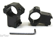 "25mm to 11mm 1"" X 3/8""  INCH  MOUNT SCOPE SIGHT RINGS BASE HIGH PROFILE AIRSOFT"