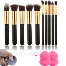 10 Pcs Pro Makeup Brushes Set Kit Cosmetic Powder Foundation Eyeshadow Lip Brush