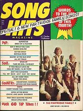 THE PARTRIDGE FAMILY SONG HITS MAGAZINE 1972 CARPENTERS CAROLE KING JERRY BUTLER