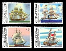 Packet Agency 200 years Set of 4 stamps Gibraltar #1044-7 tall ships mail