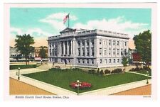 Vintage Postcard Hardin County Court House Advertising Kenton Ohio Old Building