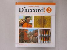 D'accord 2 Teacher's Edition 2014 Vista Higher Learning ISBN 1618578677 NEW