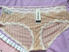 Elle Macpherson Intimates The Body   Luxury Knickers Beige Lace  Size 16/XXL