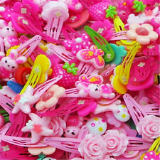 LOTS 20pcs Mix Styles Assorted Baby Kids Girl HairPin Hair Clips COLORED Jewelry