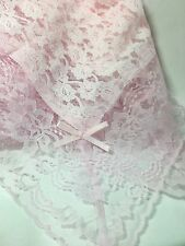 Pink With Pink  LACE CHURCH LAP SCARF/HANKIE CUSTOM MADE