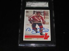 BOBBY HULL AUTOGRAPHED 1992 FUTURE TRENDS CARD-SGC SLAB-ENCAPSULATED-1972