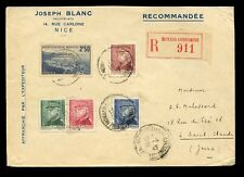 STAMP DEALER ADVERTISING ENVELOPE 1945 MONACO REGIST.JOSEPH BLANC NICE CONDAMINE