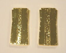 Star Trek Deep Space Nine Set of Two Gold Pressed Latinum Metal Bars, NEW UNUSED